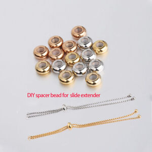 10 Pieces Stainless Steel Rose Gold Tone Rondelle Spacer Beads 8x6mm Hypoallergenic
