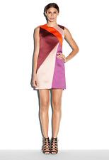 NWT Milly Color Block Peau De Soie Shift Dress Size 8