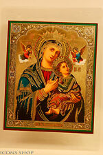 our lady of perpetual help laminated icon богоматерь неустанной помощи 10х12cm