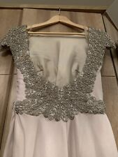 Vestido de noche Tarik EDIZ Swarovski Diseñador Dama de honor vestido de genuino Size UK 8-10