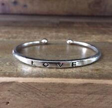 NWT Silvertone Love Layering Cuff Festival Wrap Boho Fashion Statement Bracelet