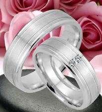 2 Ringe Trauringe Eheringe DR mit 2 Steine , Silber 925 , GRAVUR GRATIS , JK26-2