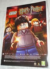 LEGO HARRY POTTER YEARS 5-7 VIDEOGAME DOUBLE-SIDED PROMO POSTER brand new !