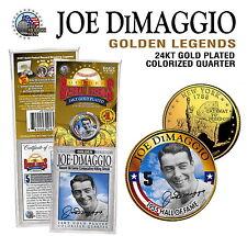 "JOE DiMAGGIO ""GOLDEN LEGENDS"" 24KT GOLD AUTOGRAPHED NEW YORK STATE QUARTER!"