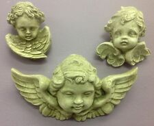 Winged Angels Cherubs set of 3 Wall Plaques Home Decor New