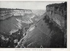 39 BAUME LES MESSIEURS VALLEE IMAGE 1924 OLD PRINT