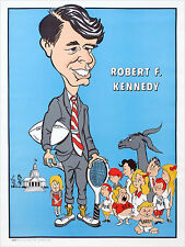 1968 Robert Kennedy Caricature Campaign Poster (3425)