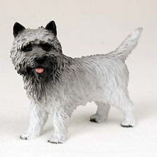 Cairn Terrier Gray Dog Hand Painted Canine Collectable Figurine Statue