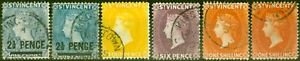 St Vincent 1890 Set of 6 SG55-58a Fine Used All Shades