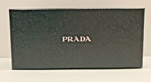 Prada Black Sunglasses Eyeglasses Case Storage Box New With Insert