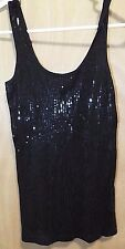 Express Girls Black Squence Sleeveless Stretchty Tank Top Size XS Very Shinny