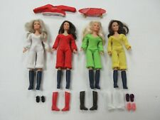 VINTAGE HASBRO CHARLIE'S ANGELS 4 FIGURE DOLL LOT WITH ACCESSORIES