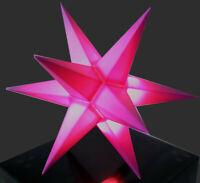LED Mini-Stern innen pink klein Adventsstern Weihnachtsstern Stern Leuchtstern