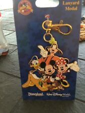 Disney Mickey And Friends Lanyard Metal New