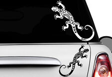 2x Gecko 30 x 13cm Autocollants Pour Voiture Hawaï Sticker Tattoo Gekko HIBISCUS