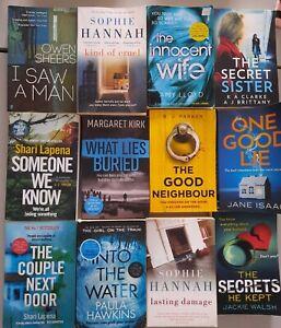 PSYCHOLOGICAL THRILLER books bundle x12, INNOCENT WIFE  the secrets he kept