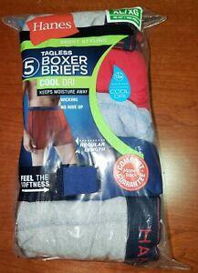 Hanes Tagless Cool Dri Short Leg Boxer Briefs Size XL XG