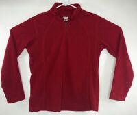 Columbia Womens Large Red Fleece Sweater Pullover 1/2 Zip A22