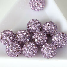 10 Pcs Czech Crystal Rhinestones Pave Clay Round Disco Ball Spacer Bead 10mm DIY