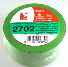Scapa 2702 Soft Electrical PVC Tape 33Mtr x 38mm Roll BS 3924 MBG014a