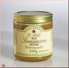 BIO Honig Sommerblüten 100% naturrein cremig mild 500g Glas DE-ÖKO-006