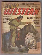 New Western Dec 1949 Pulp Walt Coburn Clifton Adams Robert L Trimnell Steve Hail