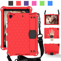 "For Apple iPad 10.2"" 8th Generation Kids Shockproof Foam Strap Stand Case Cover"