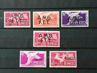 1947-52 TRIESTE AMG-FTT, 6 ESPRESSI CON L.60 del 1948, MH,UNIFICATO E1/E4,E6,E7