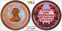 1862 BOLEN MEDAL JAB-6 / BAKER 258A PCGS MS65 #40275416 EXTREMES OF PARTY SPIRIT