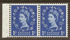 SB28 1d Wilding booklet pane perf type E UNMOUNTED MNT/MNH