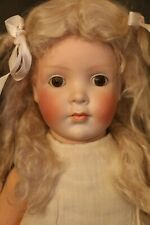 Antique Pretty Peggy Doll Grace Corry Rockwell, 19 IN, Rare German Bisque Doll