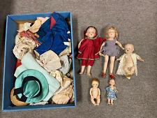 Antique Dolls Lot And Clothing bargain price rare