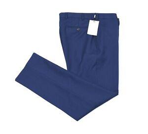 NEW Suit Supply Brescia Men Plain Blue Career Dress Pants Size 26