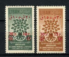 Lebanon 1960 SG#669a-b World Refugee Year Surch MNH Set #A39008A