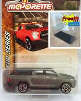 Majorette Toyota Hilux Revo Cap Grey Pick Up Diecast 1/58 292K Free Display Box