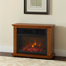 1500W Infrared Quartz Large Electric Fireplace Heater Realistic Flame w/ Remote