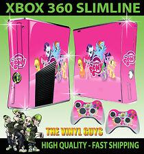 XBOX 360 SLIM STICKER MY LITTLE PONY RAINBOW TWILIGHT SKIN & 2 PAD SKINS