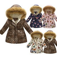 Toddler Baby Girl Winter Warm Coat Kids Thick Hooded Windproof Jacket Outwear ff