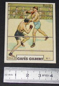 CHROMO 1936 CAFES GILBERT SPORTS BOXE BOXING