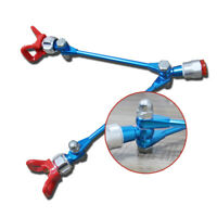 Double Nozzle Guard Lightweight Powerful Extension Pole Airless Paint Sprayer