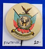 Foresters of America Fraternal Pin Pinback Button Whitehead & Hoag Co. Newark NJ