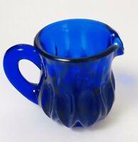 """BOYD ART GLASS COBALT BLUE  PITCHER TOOTHPICK HOLDER 2.5"""" TALL"""
