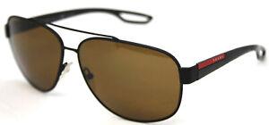 Prada Sunglasses Linea Rossa SPS58Q (SPS/58Q DG0/5Y1) Black Pilot Polarized