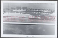 Unusual Vintage Photo View of Horse Team & Cart Over Hood of Car 674383