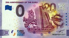 Null Euro Schein - 0 Euro - 20th Anniversary of the EURO 2021-1 - Österreich