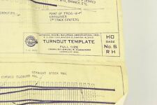 Scale Structures LTD Plans for Turnout Template Full Size Drown By Lemuel R. Cum