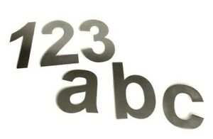 """LARGE Brushed Stainless Steel House Numbers (10"""" Tall) All numbers 0 - 9 A B C"""