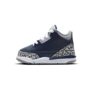 Nike Air Jordan Retro 3 Georgetown Midnight Navy Blue Grey Gray Toddler TD Size