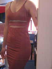 Lush clothing stretch dress knee lenght red pink colour size XS