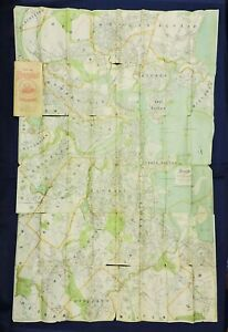1896 Large Folding Map of Boston and Surroundings - Walker & Co. - needs repairs